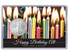 Silver Eagle Birthday Acrylic Display - customized