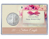 Mother's Day Silver Eagle Acrylic Display - Simple Theme