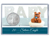New Baby Silver Eagle Acrylic Display - Blue