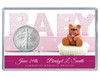 New Baby Silver Eagle Acrylic Display - Pink