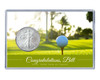 Retirement Silver Eagle Acrylic Display- Golf