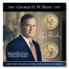 George H. W. Bush Presidential Uncirculated P & D Dollar Coin Collection