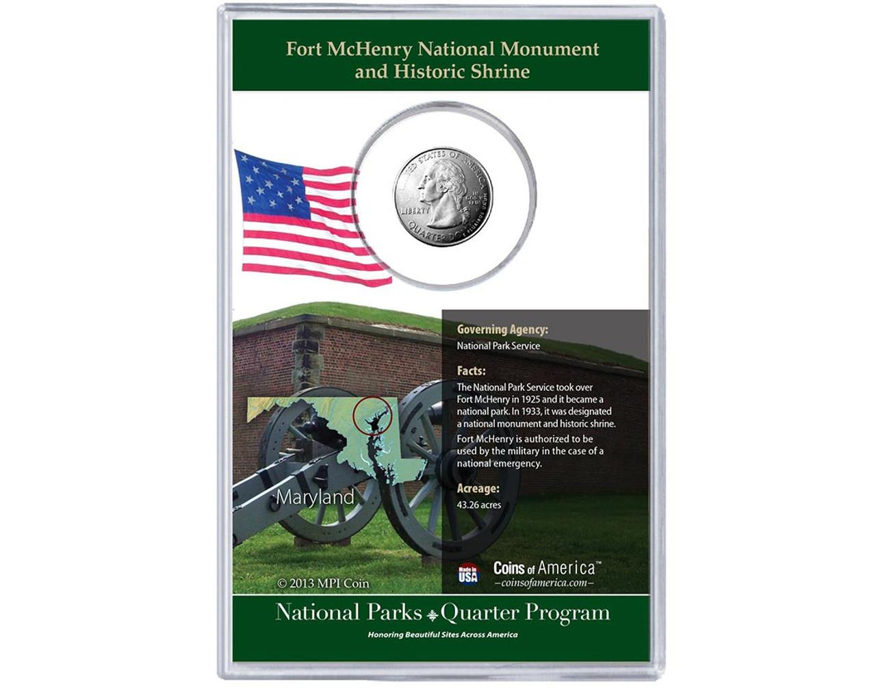 Fort McHenry National Monument And Historic Shrine Coin Stamp Set
