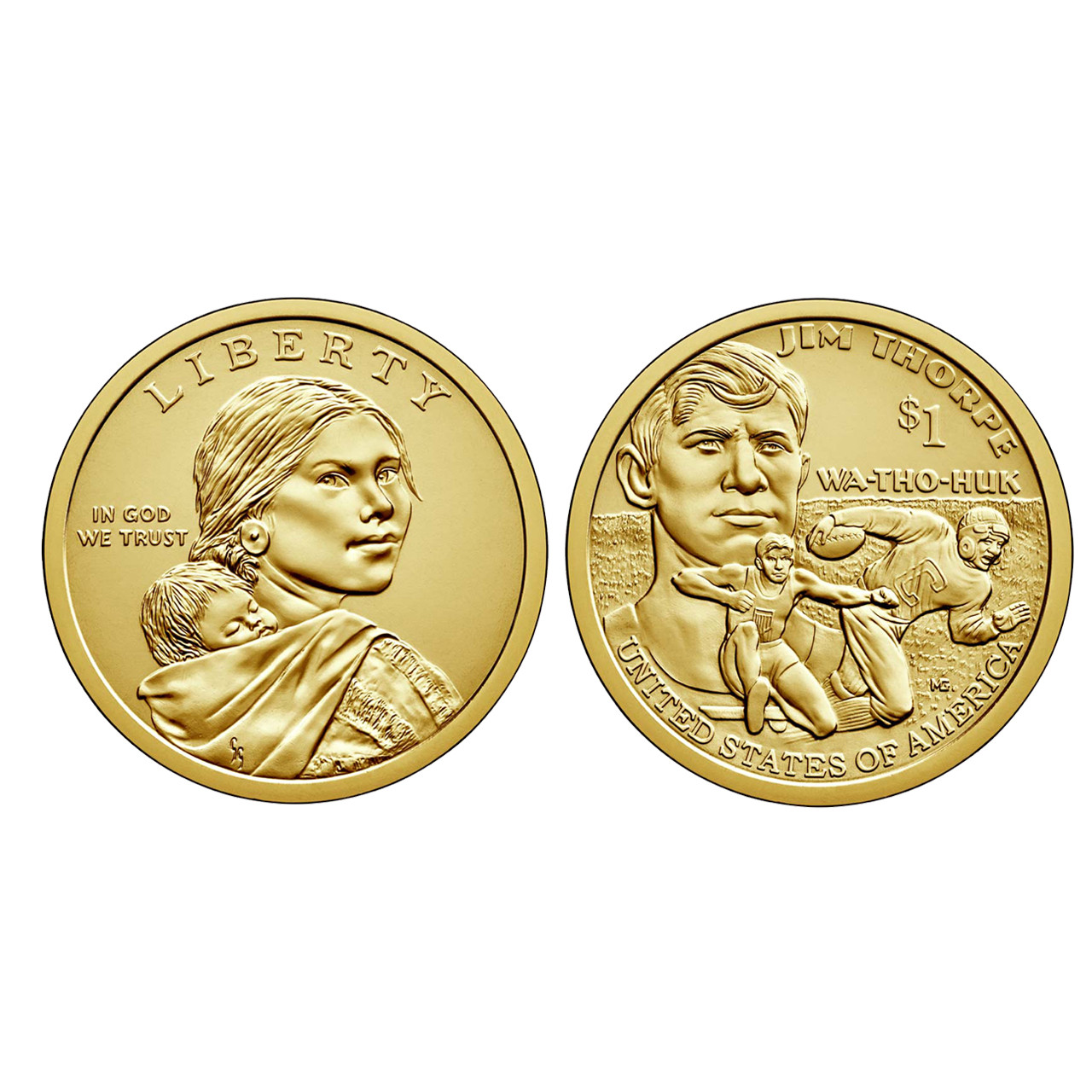 2007 P /& D $1 Sacagawea Native American Dollar 2 Coin Set From Mint Rolls
