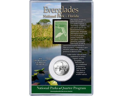 Everglades National Park Coin & Stamp Set
