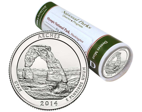 Arches National Park D Mint Quarter Roll