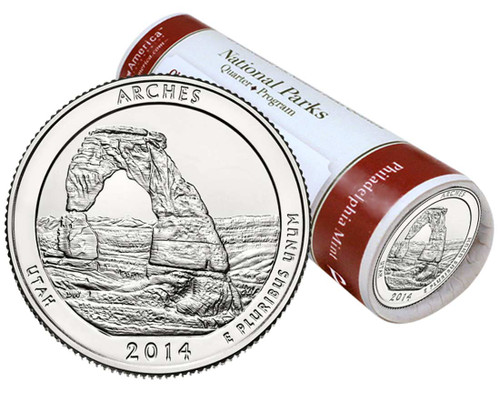 Arches National Park P Mint Quarter Roll