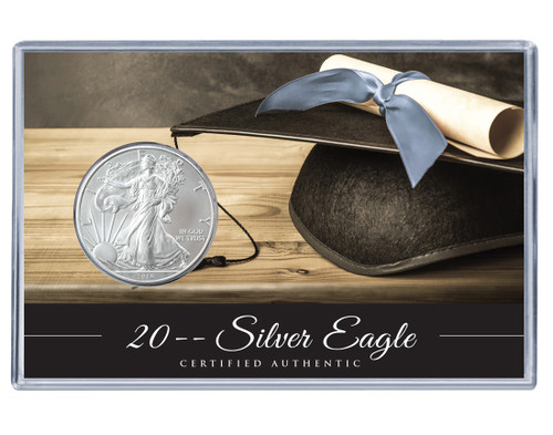 Graduation Silver Eagle Acrylic Display - Classic