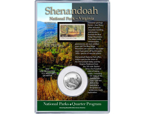 Shenandoah National Park Coin & Stamp Set