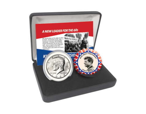 Kennedy Coin and Button Set
