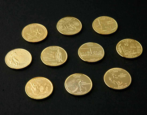 Gold-Plated State Quarter 10-Pack