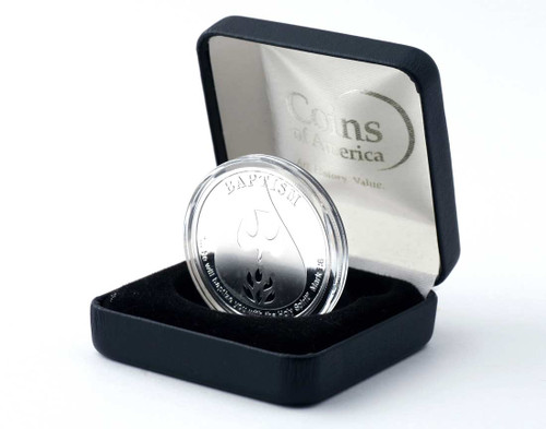 Baptism Commemorative .999 Silver Coin