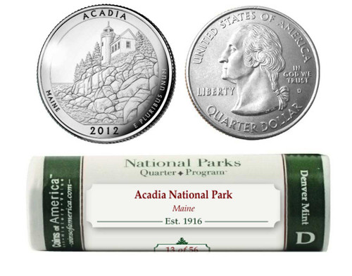 Acadia National Park D Mint Quarter Roll