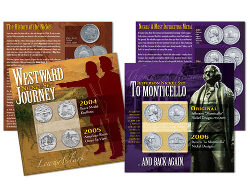 Westward Journey and Return to Monticello - Two Nickel Collections