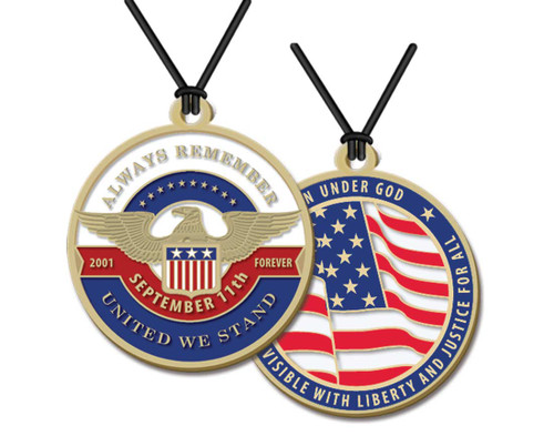 Always Remember 9/11 Unity  Necklace