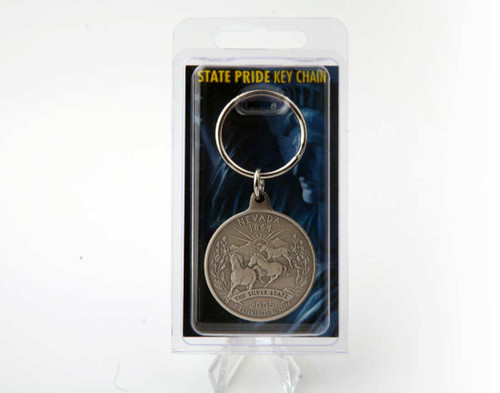 Nevada State Pride Key Chain