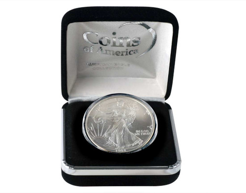1992 Silver Eagle In Velvet Box
