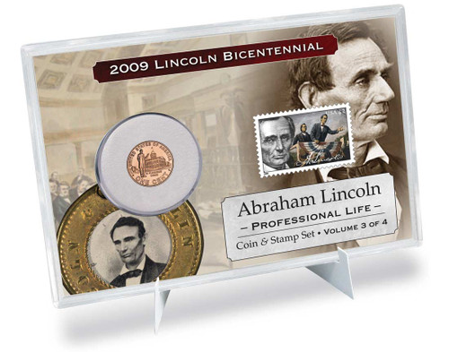 Lincoln Professional Life Coin & Stamp Set
