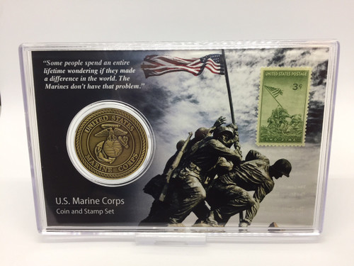 U.S. Marine Corps Coin And Stamp Set