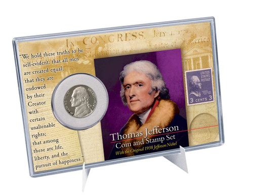 Thomas Jefferson Coin And Stamp Set