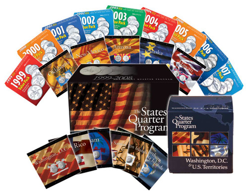50 State And 6 Territory Quarter Set