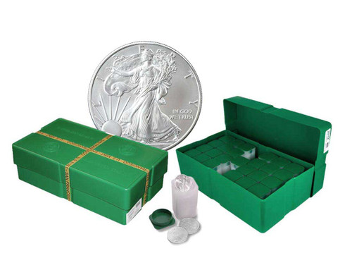 Empty Silver Eagle Monster Box with 25 Empty Tubes (Holds 500 Coins)