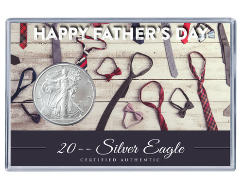 Father's Day Silver Eagle Acrylic Display - Tie Theme
