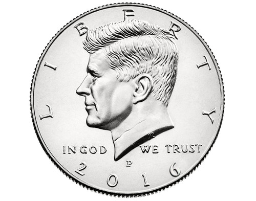"2016 Kennedy Half Dollar ""P"" Roll"