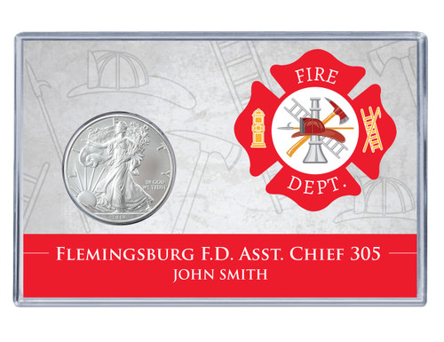 Firefighter Silver Eagle Acrylic Display
