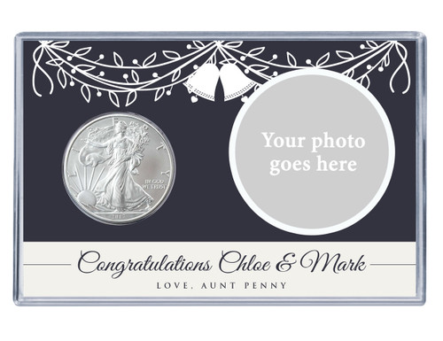 Wedding Custom Photo Silver Eagle Acrylic Display