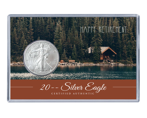 Retirement Silver Eagle Acrylic Display- Cabin