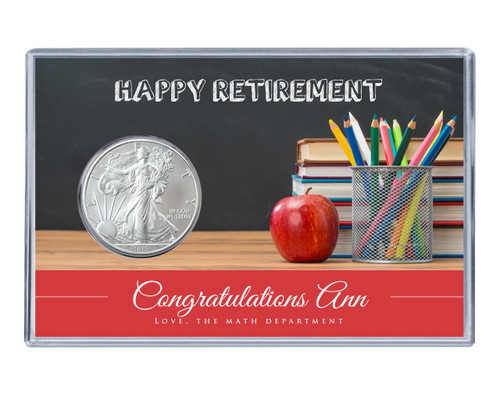 Retirement Silver Eagle Acrylic Display-Teacher