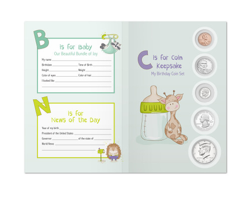 Baby Birthyear Coin Set Keepsake - 2018 Coins Included