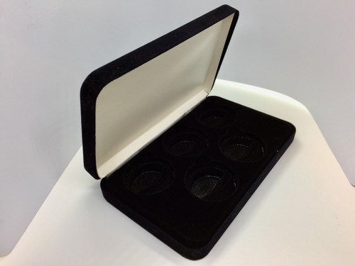 Black Velvet 5 Coin Display Box