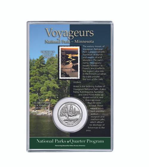 Minnesota Voyageurs National Park Coin & Stamp