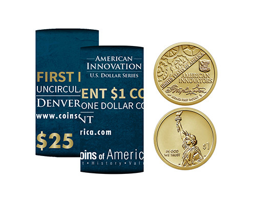 American Innovations Uncirculated Patent Dollar Denver Mint Roll
