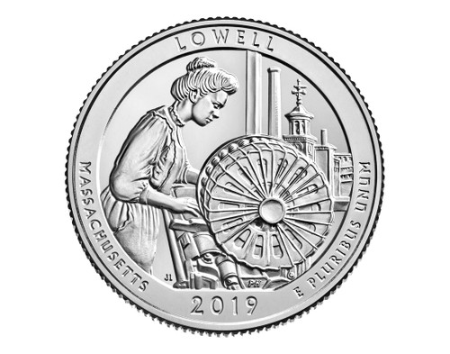 MA Lowell National Park P Mint Quarter