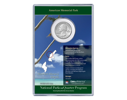 Northern Mariana Island American Memorial National Park Coin & Stamp Set