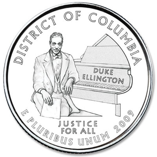 2009 Washington DC Quarter P Mint