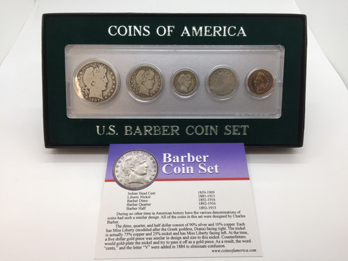Barber Vintage Coin Collection