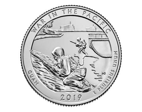 Guam War in the Pacific National Historical Park Quarter D Mint - 2019