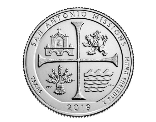 Texas San Antonio Missions National Historical Park P Mint Quarter
