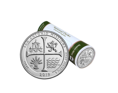 Texas San Antonio Missions National Historical Park D Mint Quarter Roll
