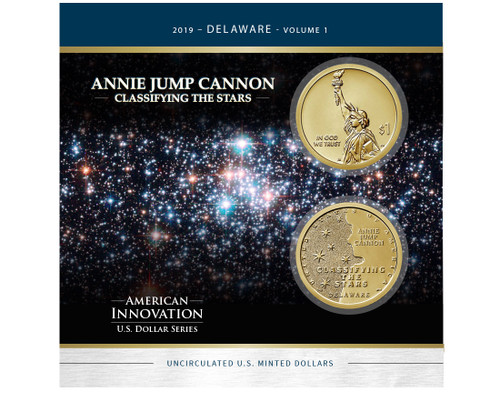 American Innovations Dollar Collection-Annie Jump Cannon Classifying the Stars