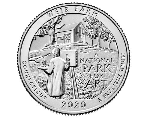 Connecticut Weir Farms National Park Quarter D Mint