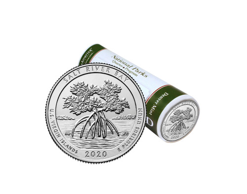 US Virgin Island Salt River Bay National Park D Quarter Roll