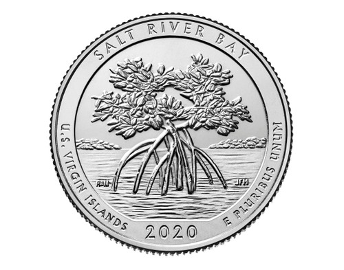 US Virgin Island Salt River Bay  National Park Quarter P Mint