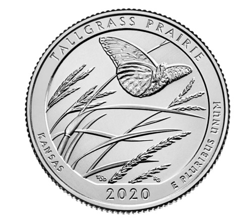 Kansas Tallgrass Prairie National Park National Park P Mint Quarter
