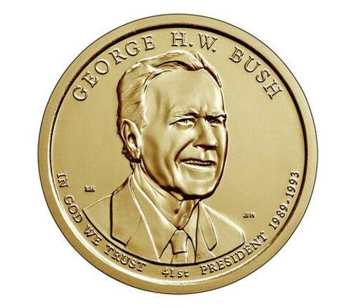 George H. W. Bush Presidential Uncirculated Denver Mint Coin