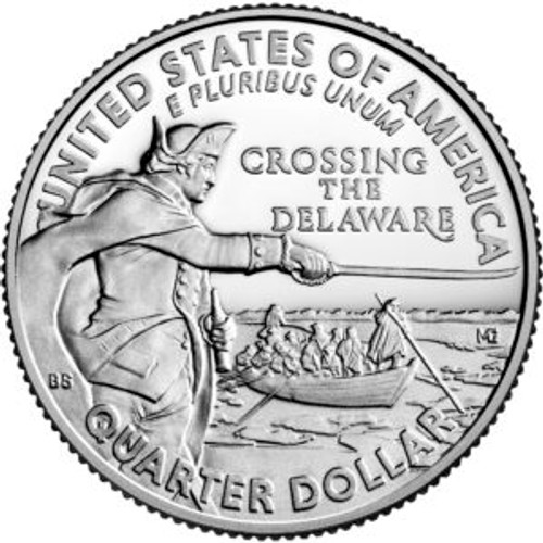George Washington Crossing the Delaware P Mint Quarter